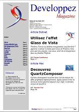 Couverture magazine juin - juillet 2007