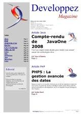Couverture magazine juin - juillet 2008