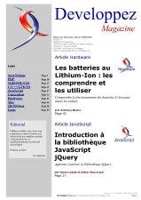 Couverture magazine décembre - janvier 2008/2009
