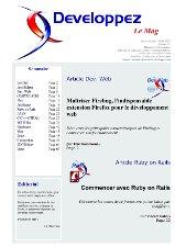 Couverture magazine juin - juillet 2009
