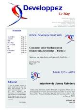 Couverture magazine juin - juillet 2010