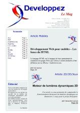 Couverture magazine octobre - novembre 2010