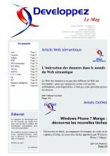 Couverture magazine octobre - novembre 2011